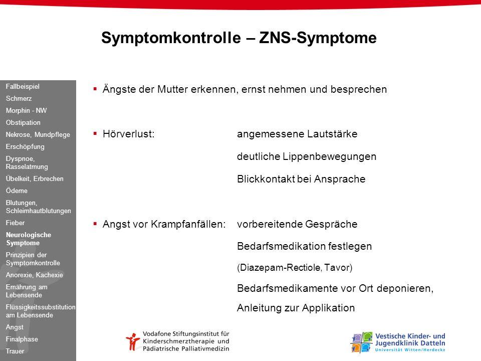 Symptomkontrolle – ZNS-Symptome
