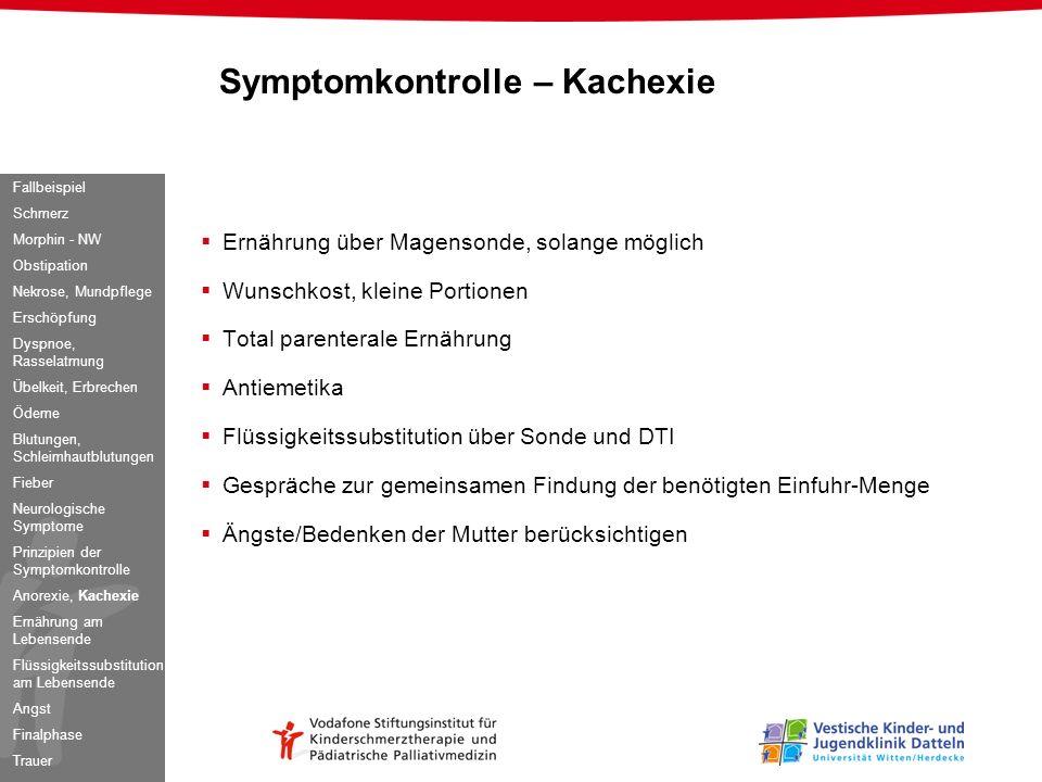 Symptomkontrolle – Kachexie