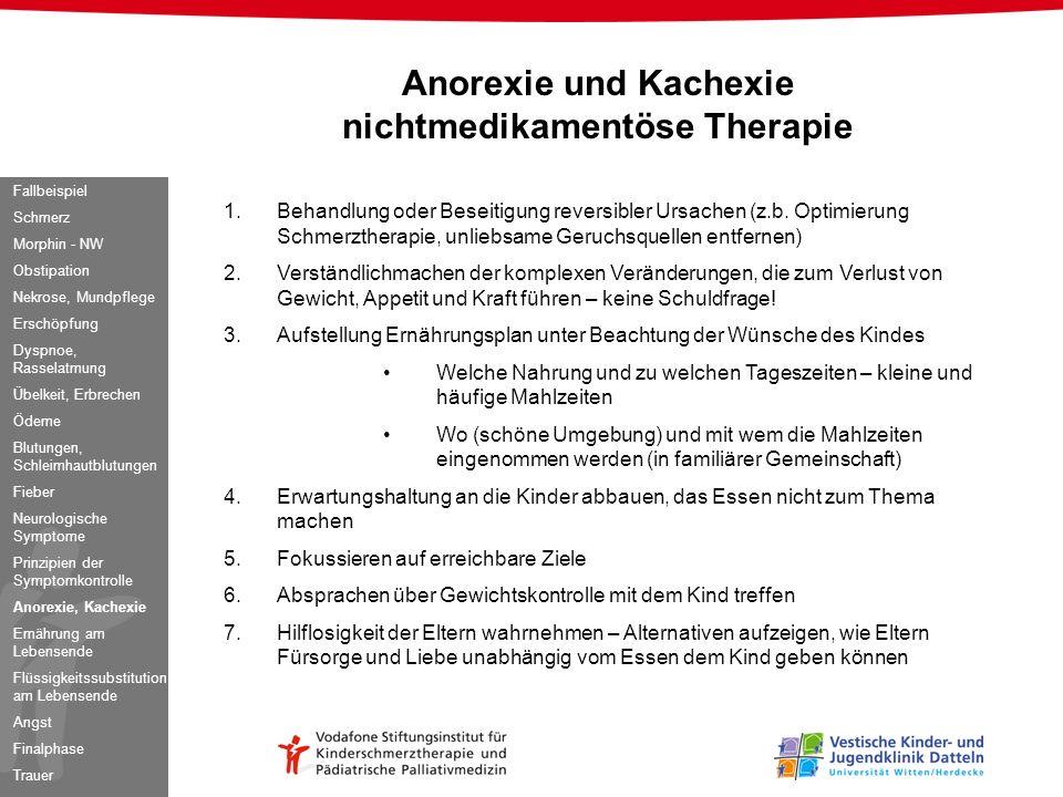 Anorexie und Kachexie nichtmedikamentöse Therapie