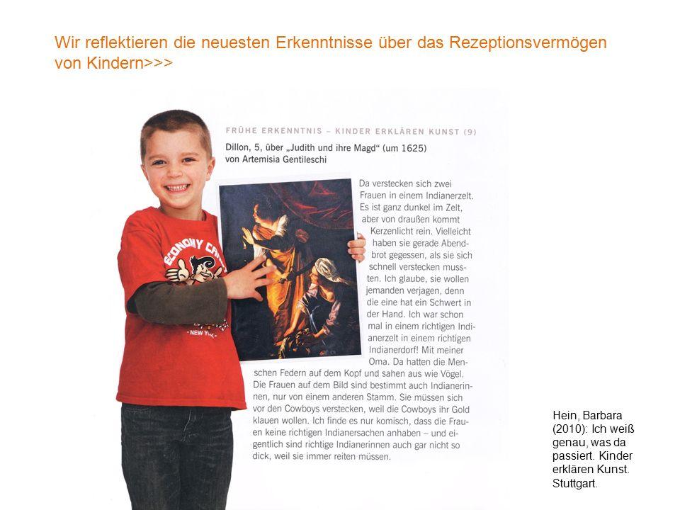 Wir reflektieren die neuesten Erkenntnisse über das Rezeptionsvermögen von Kindern>>>