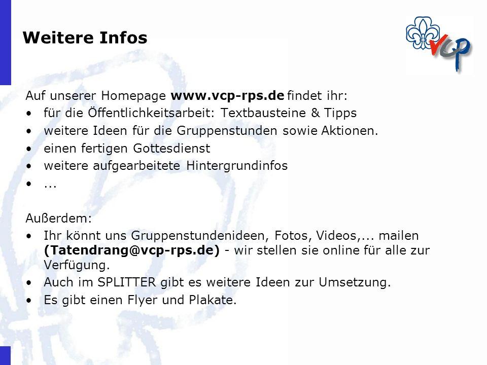 Weitere Infos Auf unserer Homepage www.vcp-rps.de findet ihr: