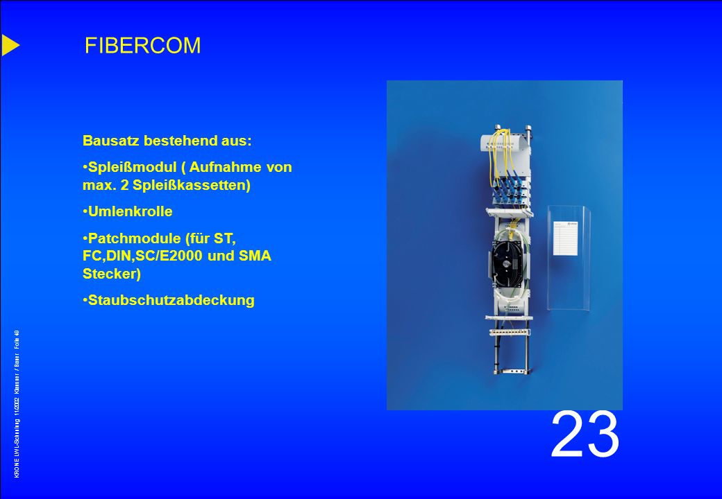 FIBERCOM Bausatz bestehend aus: