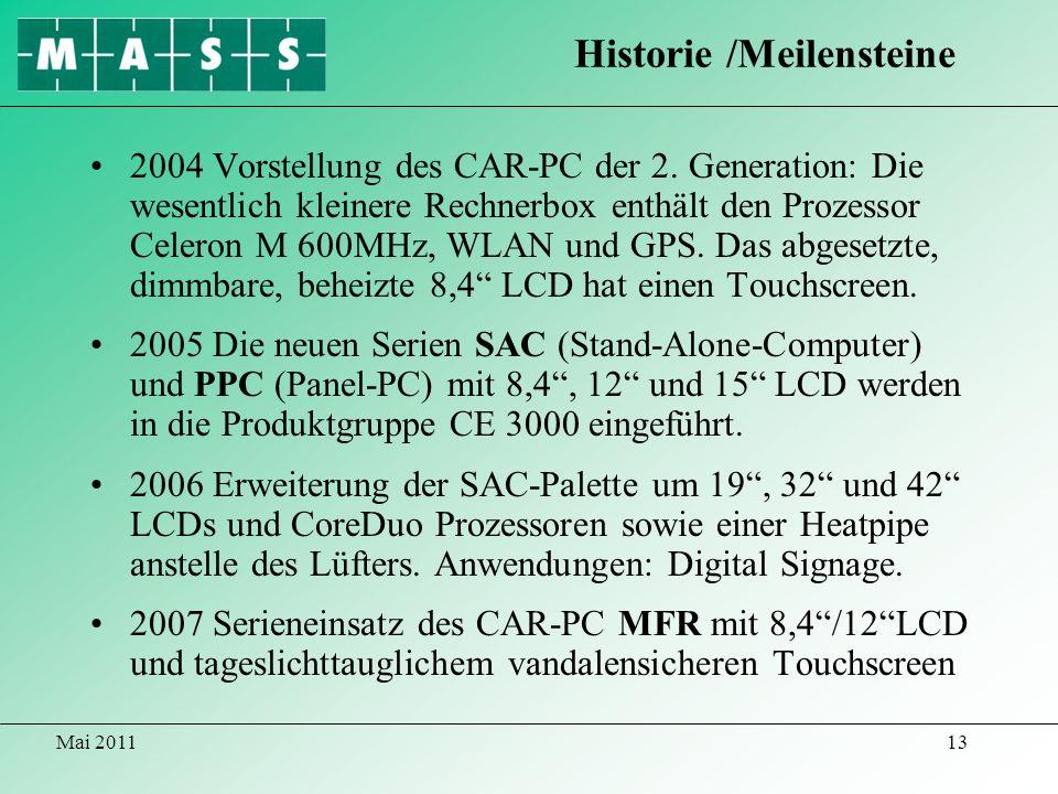 Historie /Meilensteine