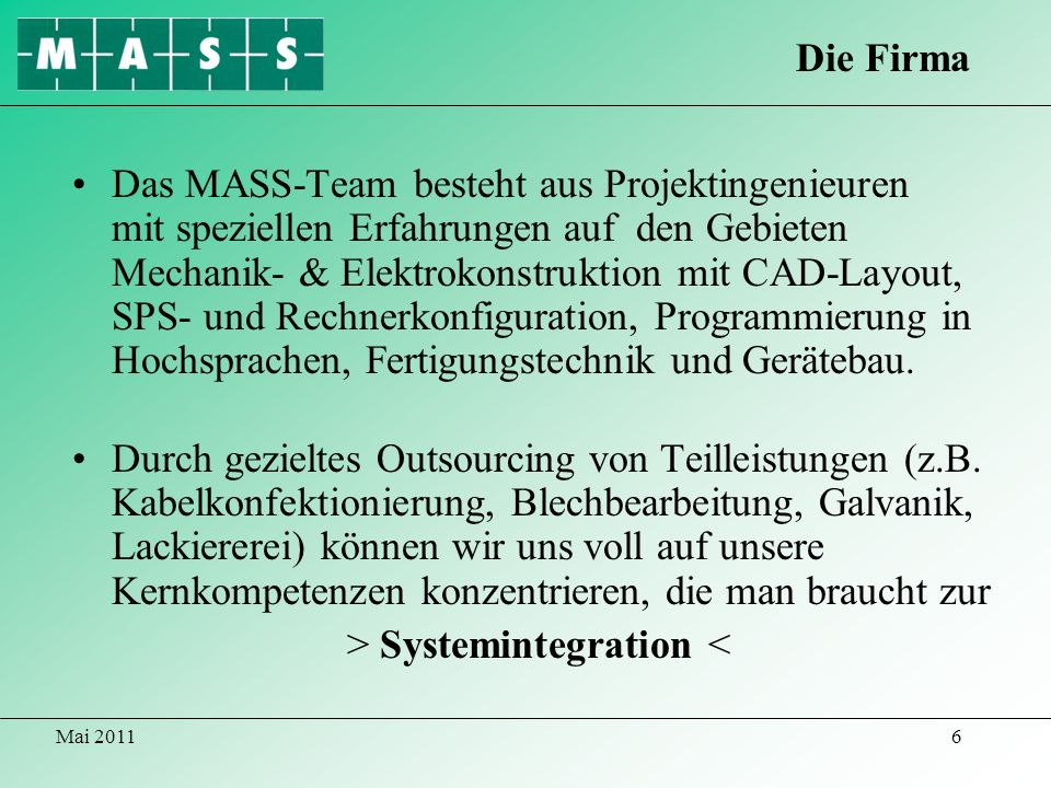> Systemintegration <