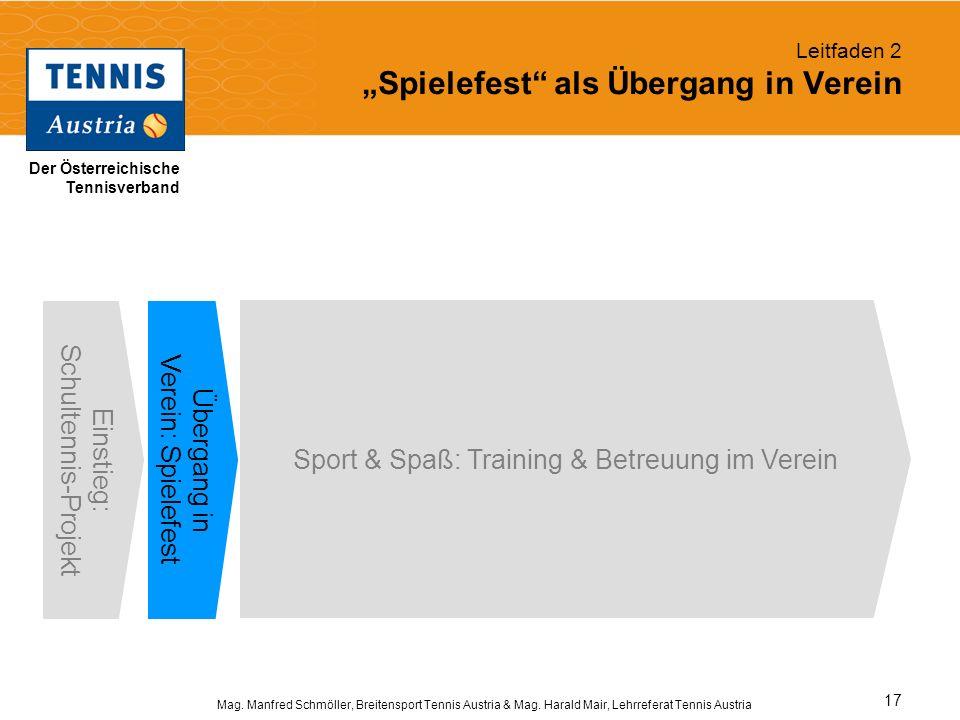 """Leitfaden 2 """"Spielefest als Übergang in Verein"""