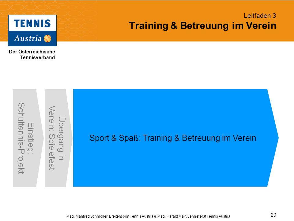 Leitfaden 3 Training & Betreuung im Verein