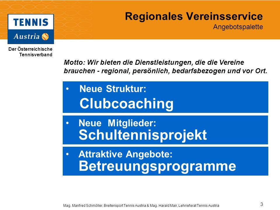 Regionales Vereinsservice Angebotspalette
