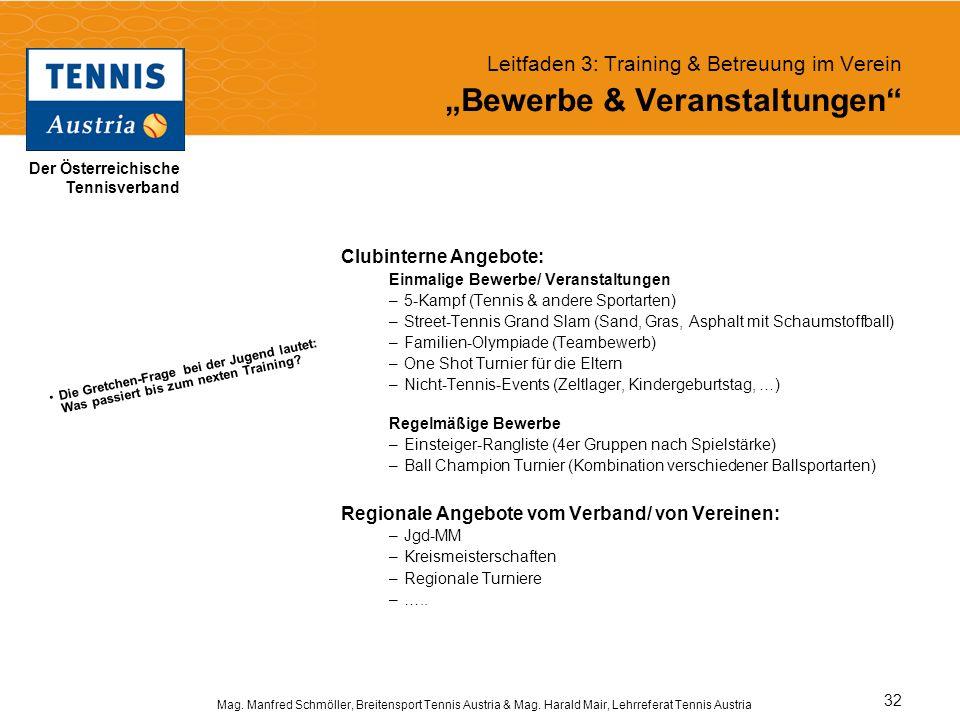 """Leitfaden 3: Training & Betreuung im Verein """"Bewerbe & Veranstaltungen"""