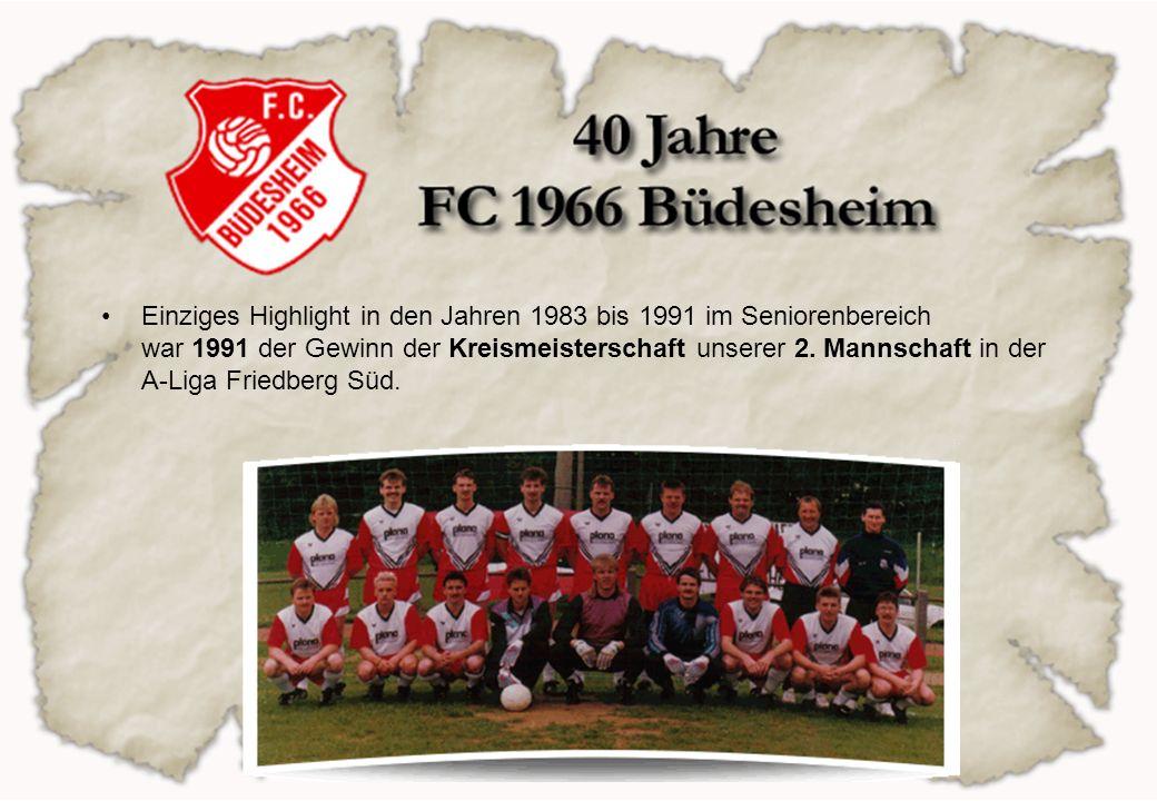 Einziges Highlight in den Jahren 1983 bis 1991 im Seniorenbereich war 1991 der Gewinn der Kreismeisterschaft unserer 2.