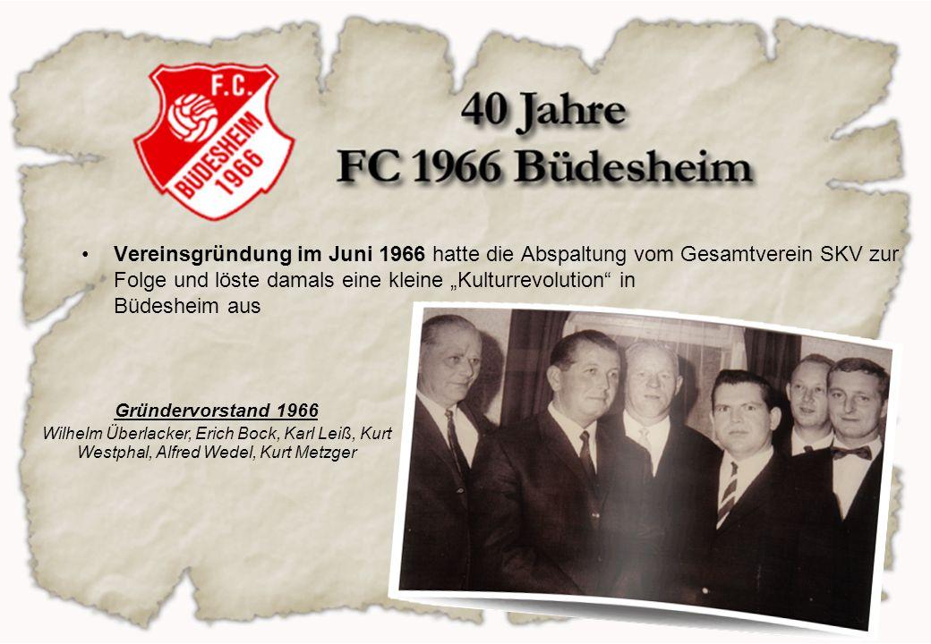 """Vereinsgründung im Juni 1966 hatte die Abspaltung vom Gesamtverein SKV zur Folge und löste damals eine kleine """"Kulturrevolution in Büdesheim aus"""