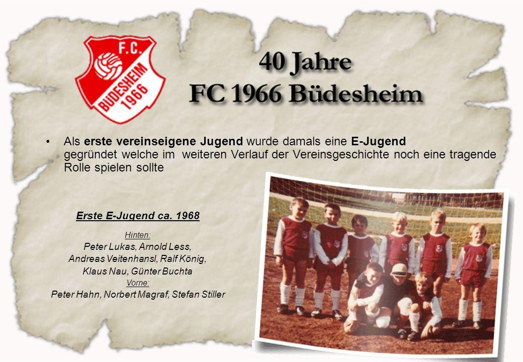 Als erste vereinseigene Jugend wurde damals eine E-Jugend gegründet welche im weiteren Verlauf der Vereinsgeschichte noch eine tragende Rolle spielen sollte