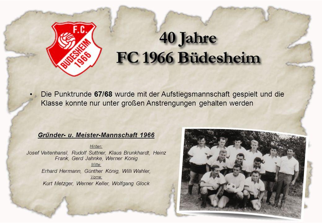 Gründer- u. Meister-Mannschaft 1966