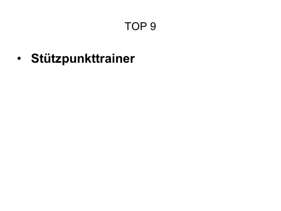 TOP 9 Stützpunkttrainer