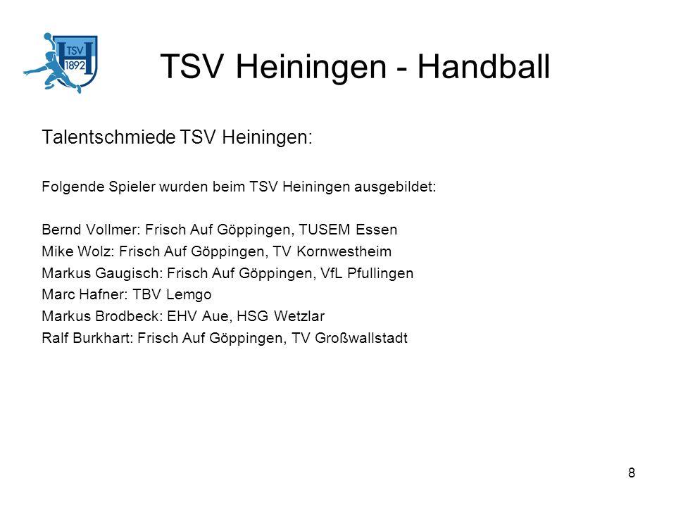 TSV Heiningen - Handball