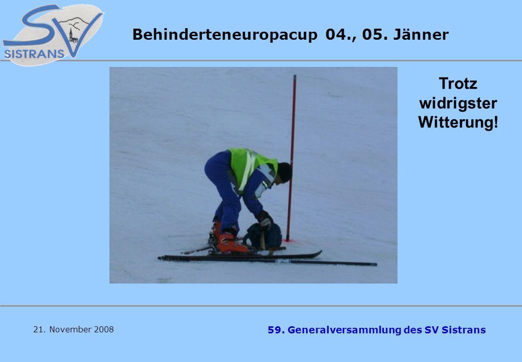 Behinderteneuropacup 04., 05. Jänner