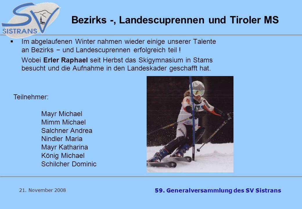Bezirks -, Landescuprennen und Tiroler MS