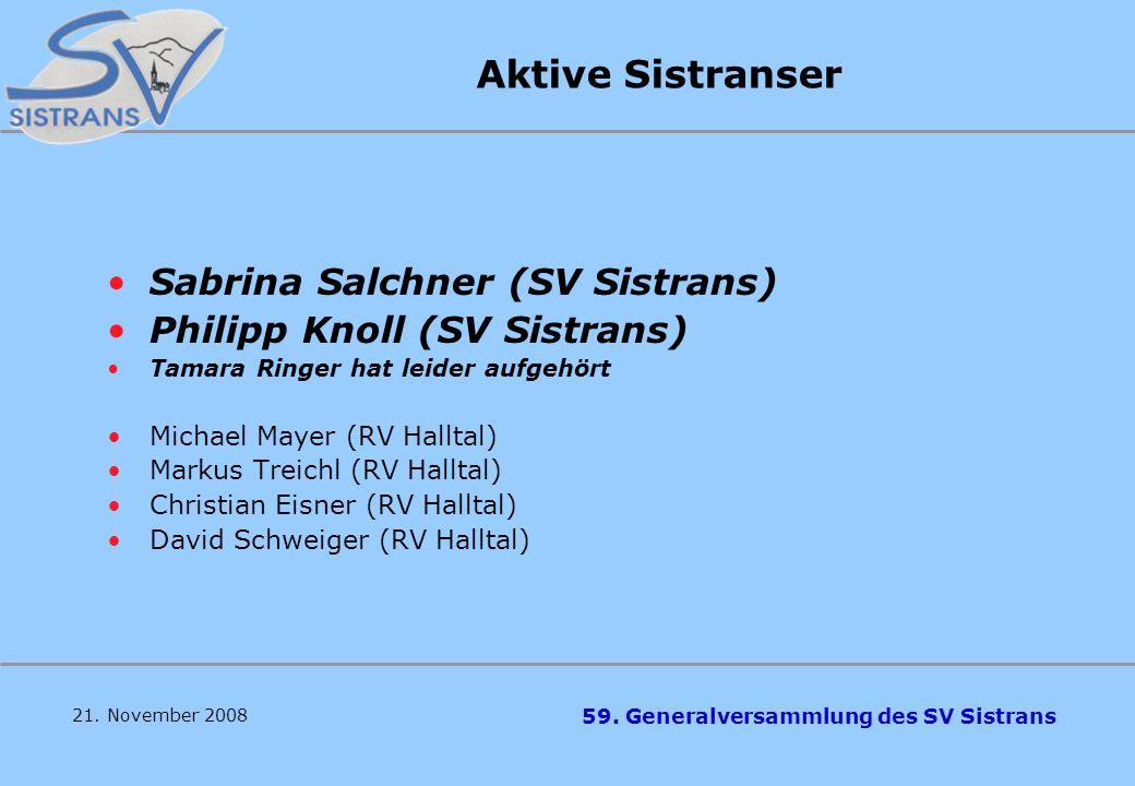Aktive Sistranser Sabrina Salchner (SV Sistrans)