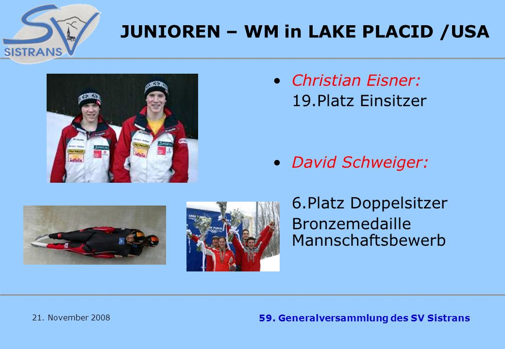 JUNIOREN – WM in LAKE PLACID /USA