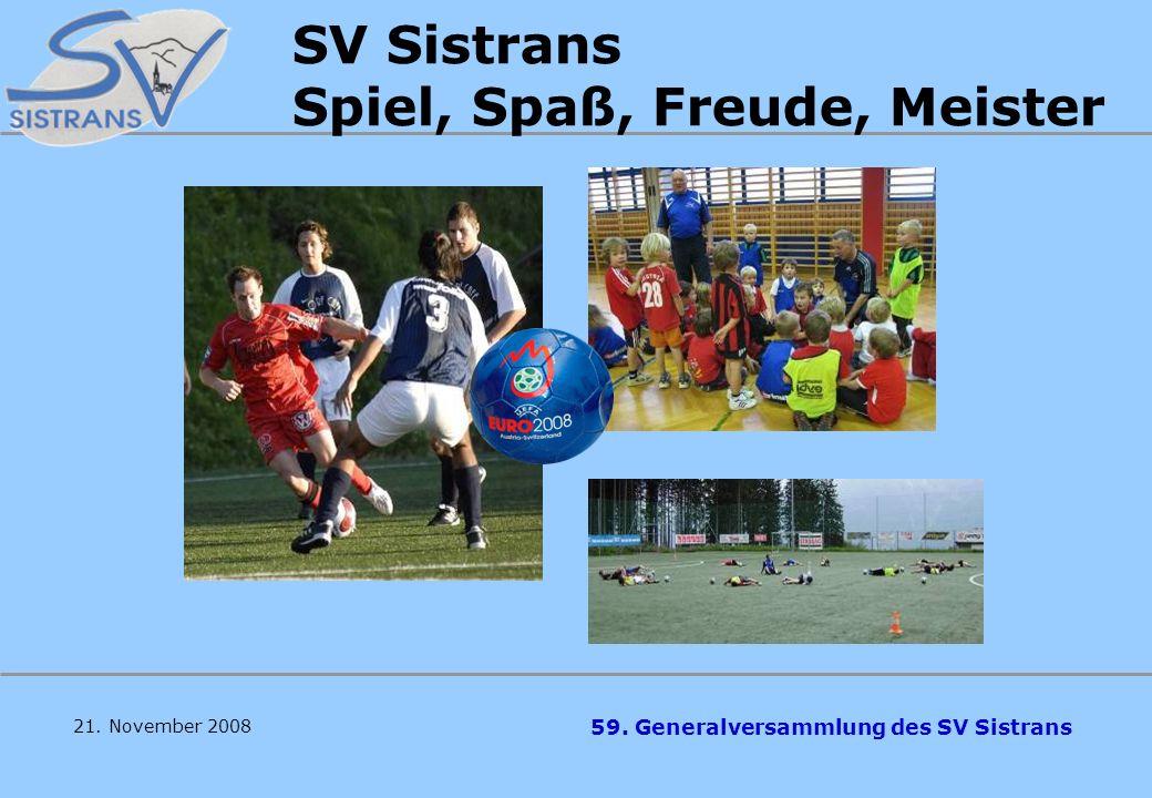 SV Sistrans Spiel, Spaß, Freude, Meister