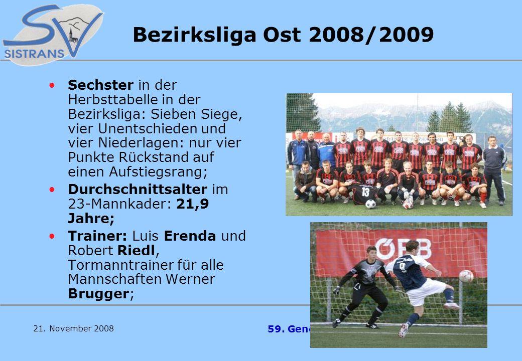 Bezirksliga Ost 2008/2009