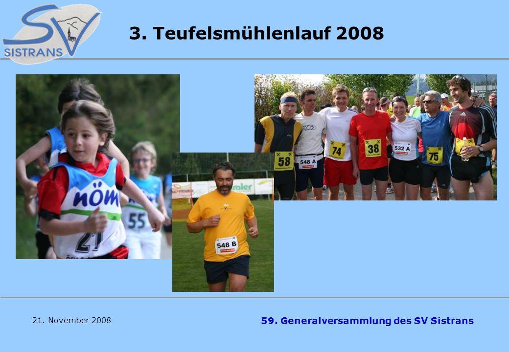 3. Teufelsmühlenlauf 2008 21. November 2008