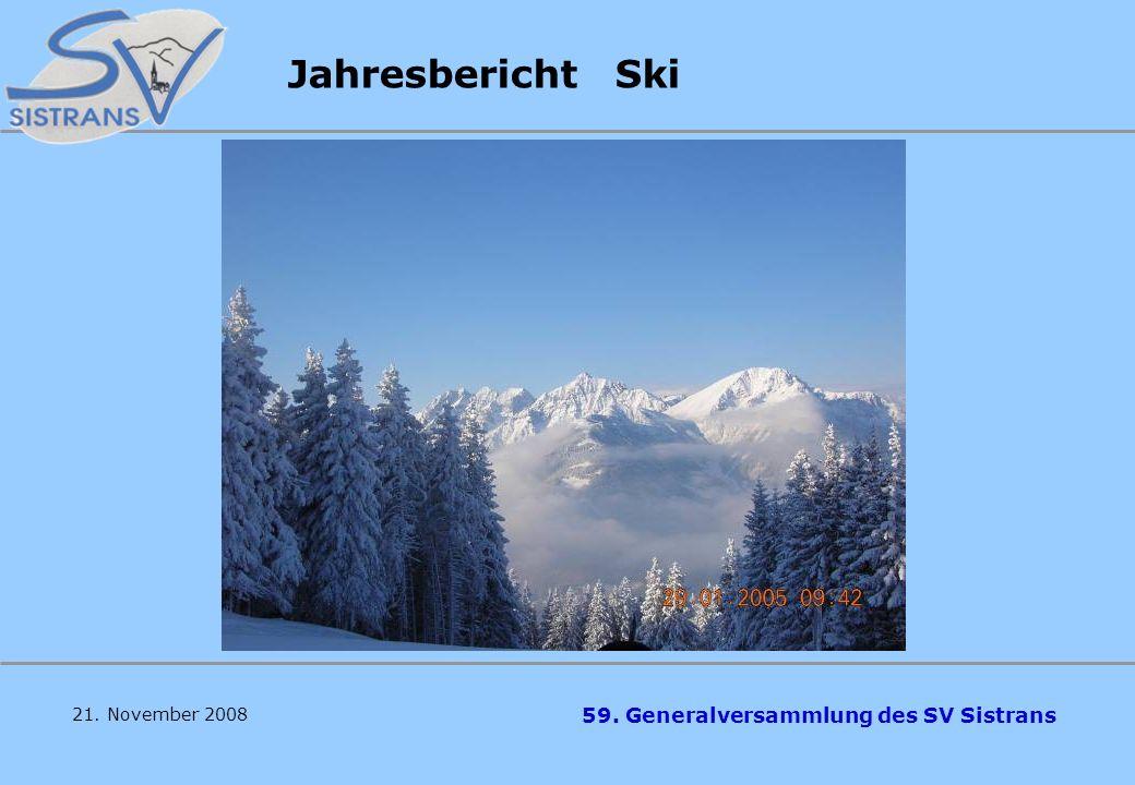 Jahresbericht Ski 21. November 2008