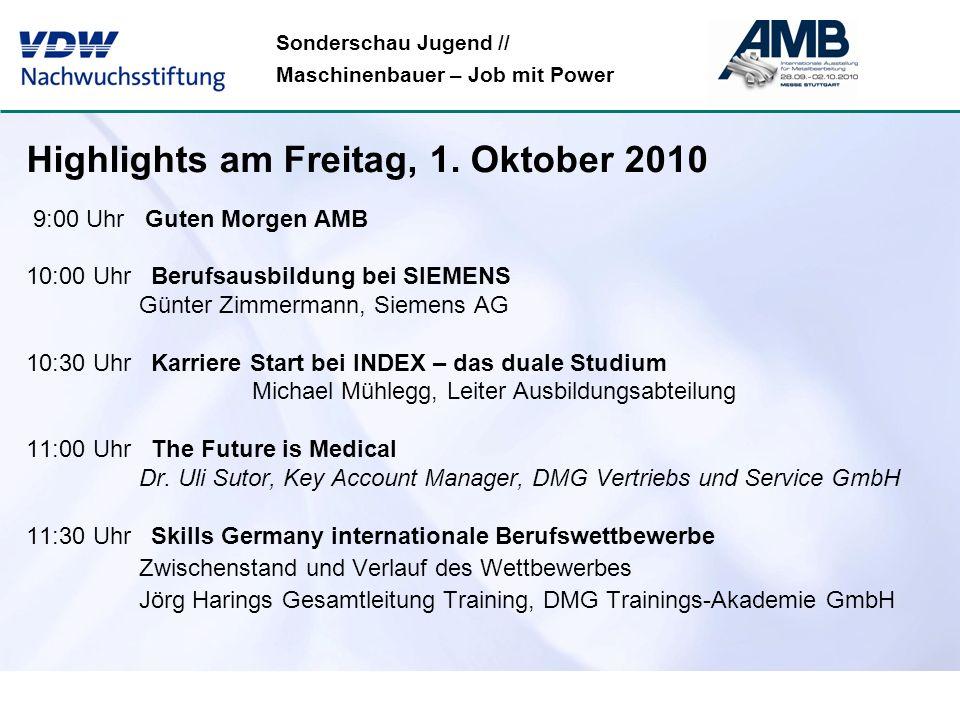 Sonderschau Jugend // Maschinenbauer – Job mit Power