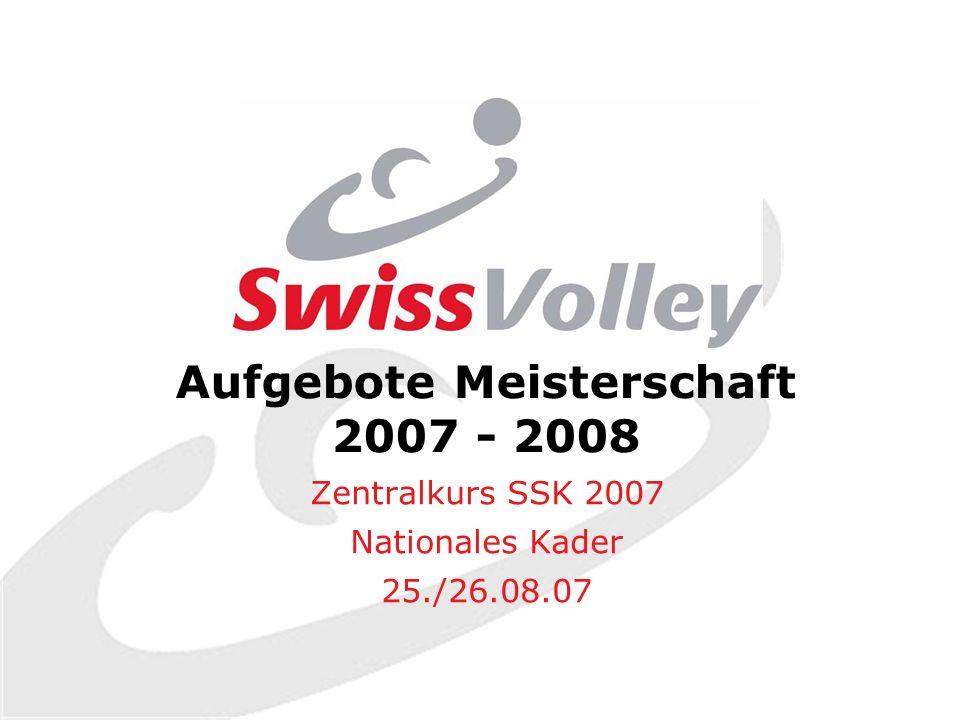 Aufgebote Meisterschaft 2007 - 2008