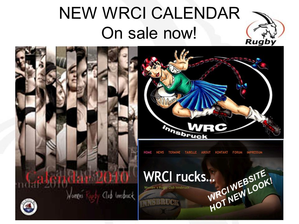 NEW WRCI CALENDAR On sale now!
