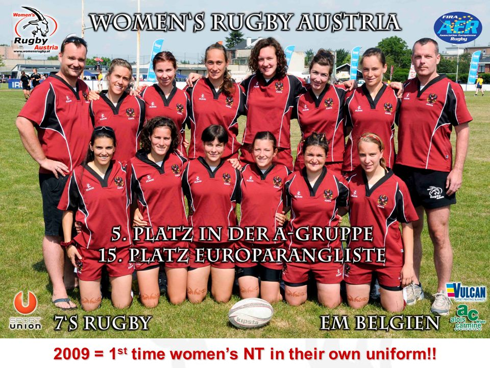 2009 = 1st time women's NT in their own uniform!!