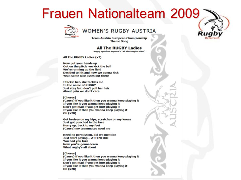 Frauen Nationalteam 2009