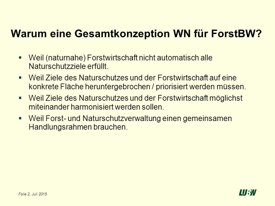 Warum eine Gesamtkonzeption WN für ForstBW