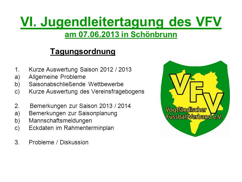 VI. Jugendleitertagung des VFV am 07.06.2013 in Schönbrunn