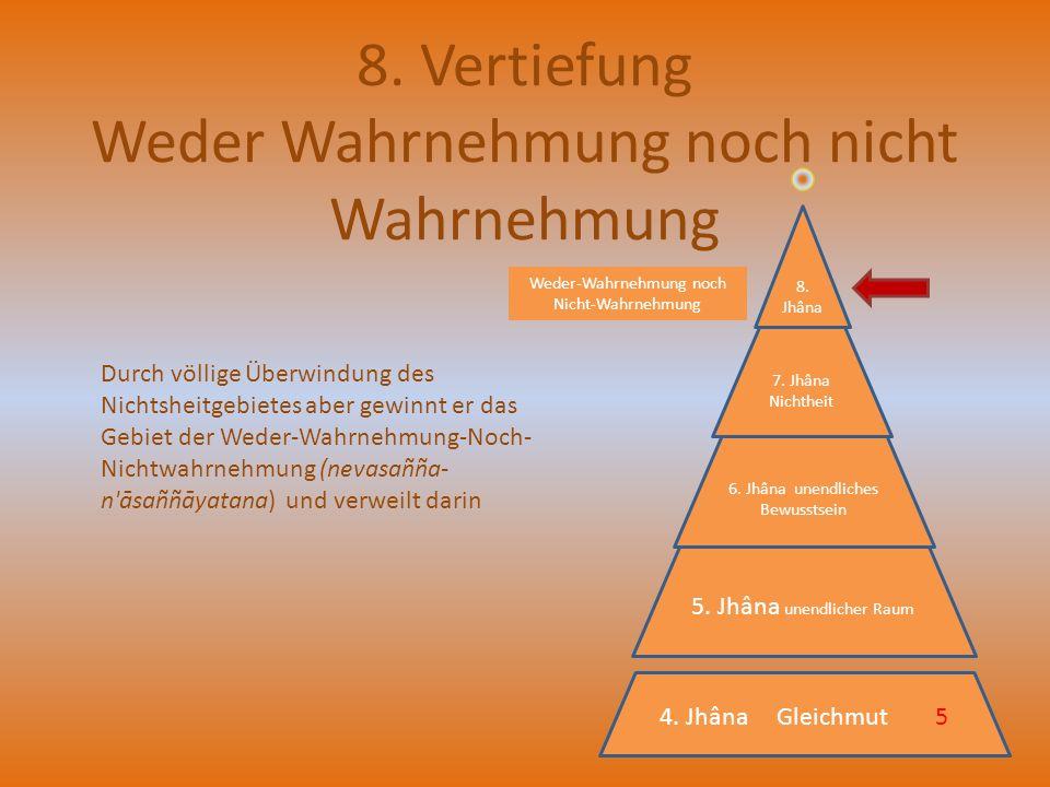 8. Vertiefung Weder Wahrnehmung noch nicht Wahrnehmung