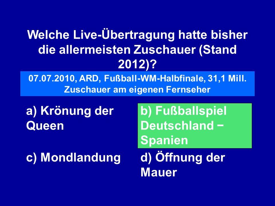 b) Fußballspiel Deutschland − Spanien