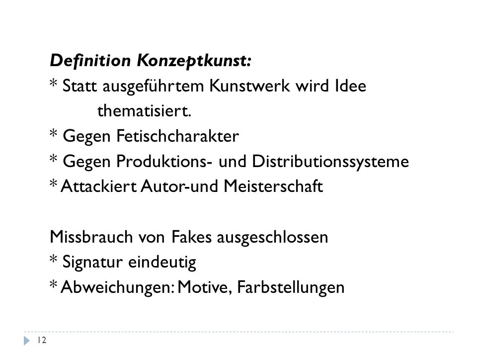 Definition Konzeptkunst: