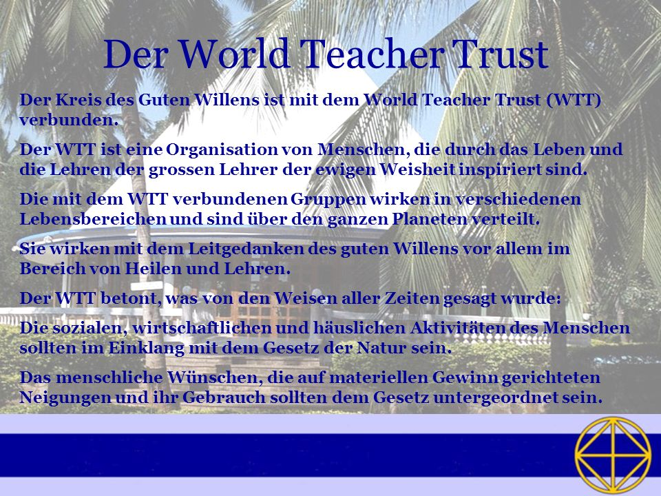 Der World Teacher Trust