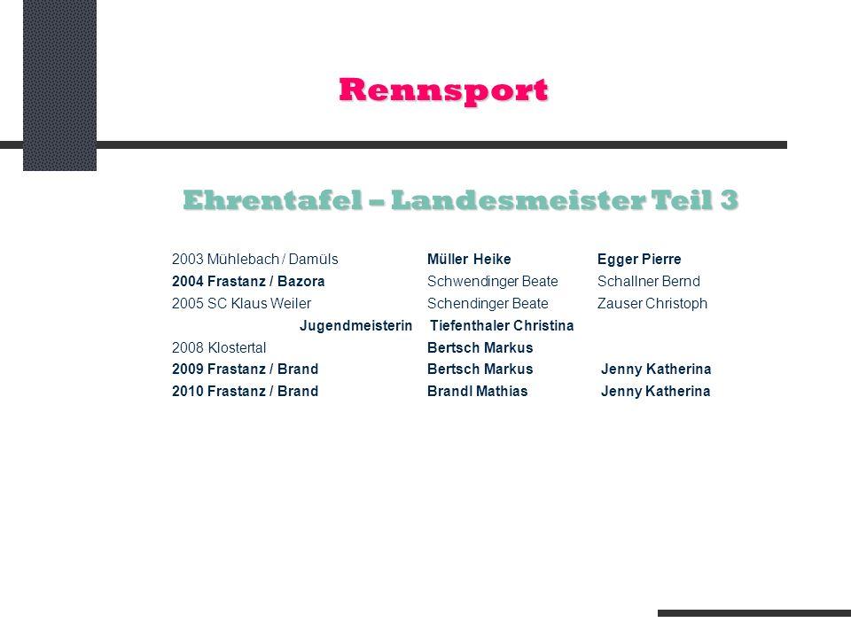 Ehrentafel – Landesmeister Teil 3
