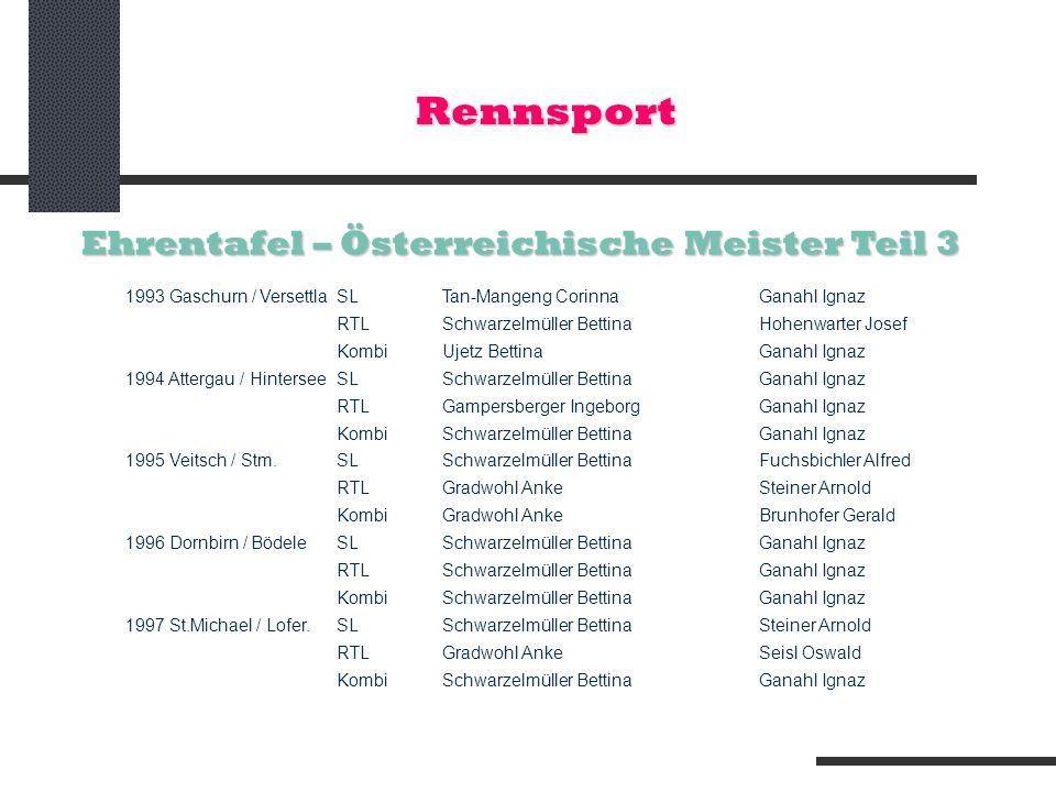 Rennsport Ehrentafel – Österreichische Meister Teil 3