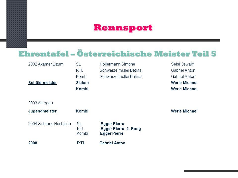 Rennsport Ehrentafel – Österreichische Meister Teil 5