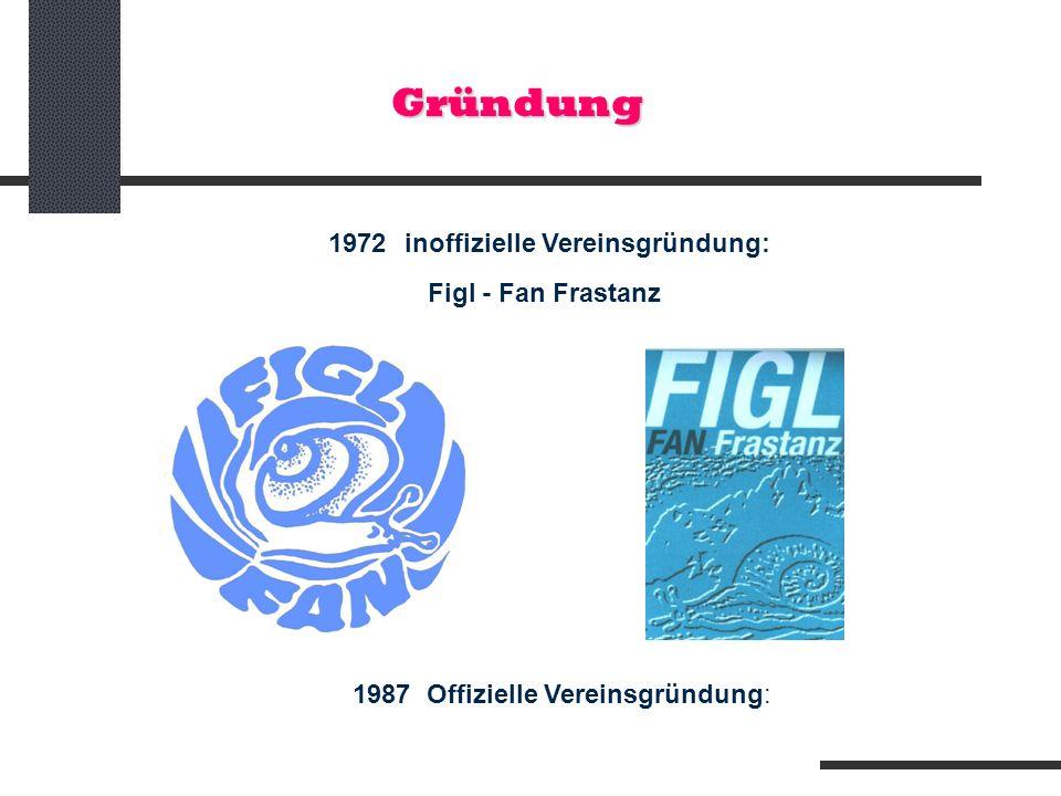 Gründung 1972 inoffizielle Vereinsgründung: Figl - Fan Frastanz