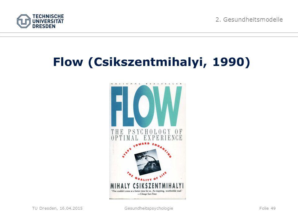 Flow (Csikszentmihalyi, 1990)