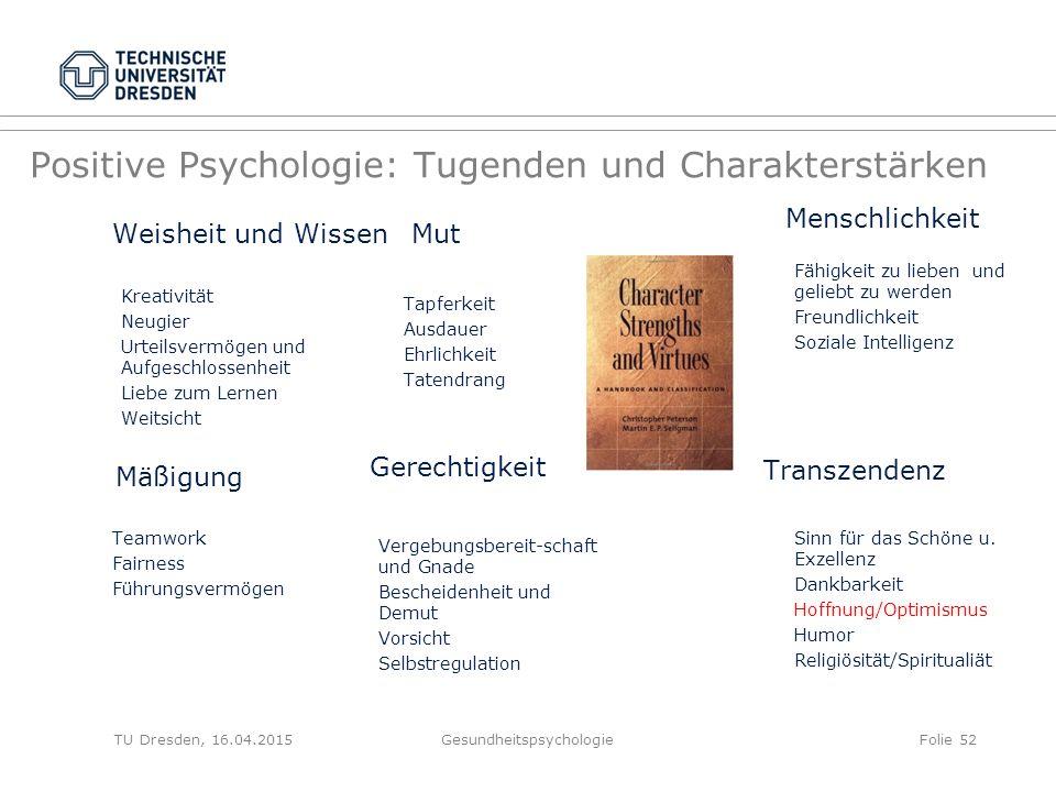Positive Psychologie: Tugenden und Charakterstärken