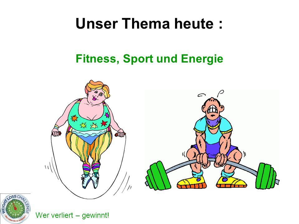 Fitness, Sport und Energie