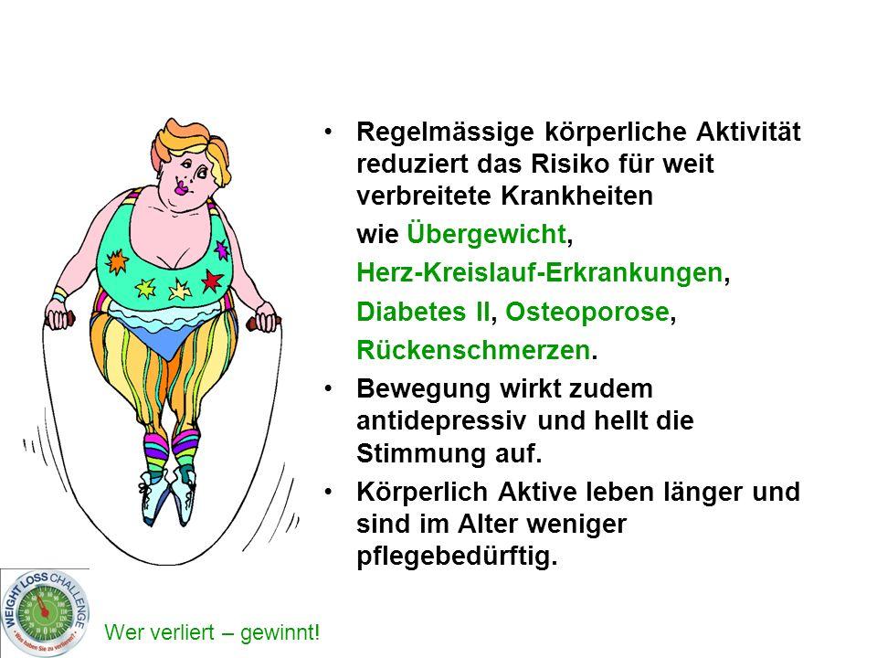 Regelmässige körperliche Aktivität reduziert das Risiko für weit verbreitete Krankheiten