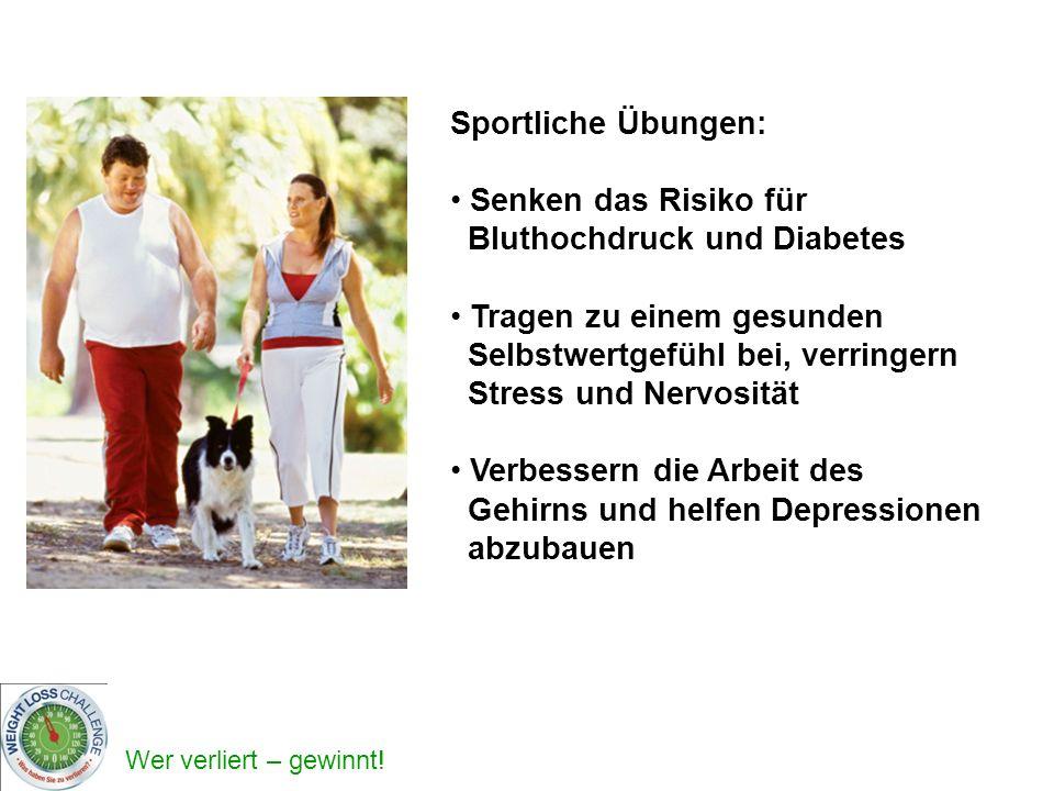 Sportliche Übungen: Senken das Risiko für Bluthochdruck und Diabetes.