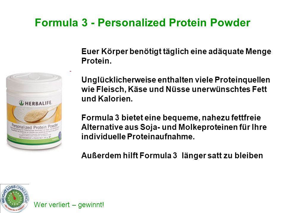 Formula 3 - Personalized Protein Powder
