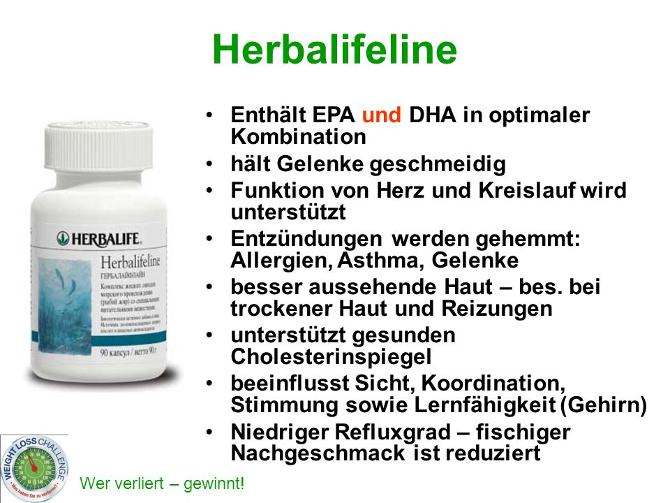 Herbalifeline Enthält EPA und DHA in optimaler Kombination