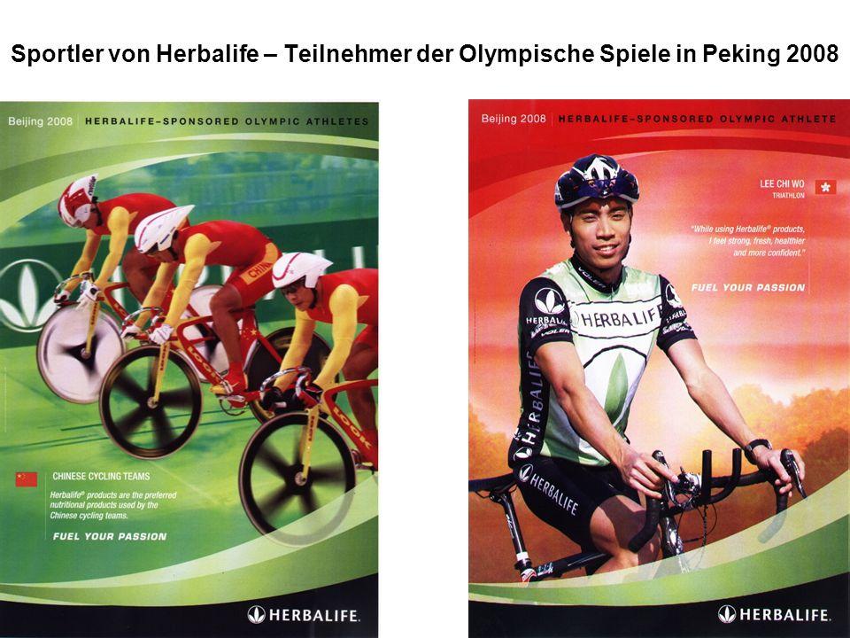 Sportler von Herbalife – Teilnehmer der Olympische Spiele in Peking 2008