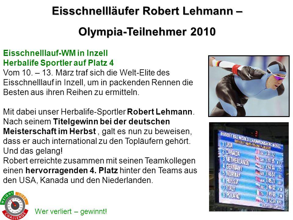 Eisschnellläufer Robert Lehmann –